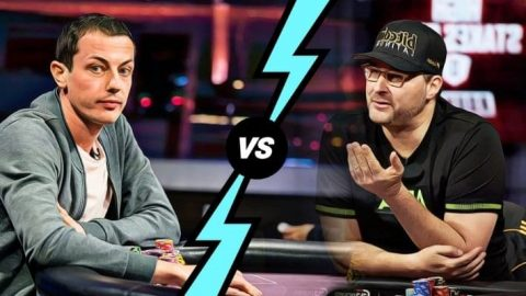 Phil Hellmuth Vs. Tom Dwan in a High Stakes Duel